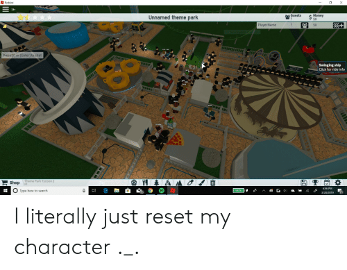 Roblox 13+ Guests Unnamed Theme Park Money S0 PlayerName So