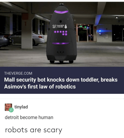 Are: robots are scary