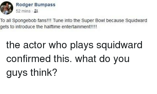 Rodger Bumpass 2 Mins to All Spongebob Fans!!! Tune Into the