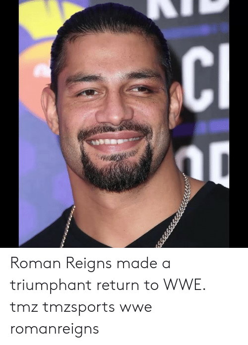 World Wrestling Entertainment: Roman Reigns made a triumphant return to WWE. tmz tmzsports wwe romanreigns