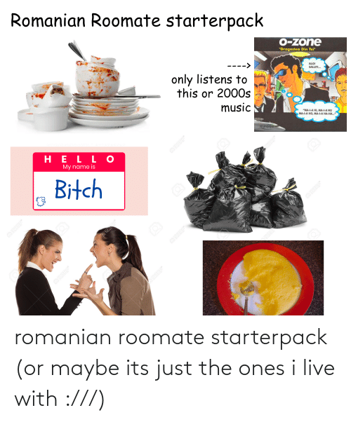 Roomate: romanian roomate starterpack (or maybe its just the ones i live with :///)