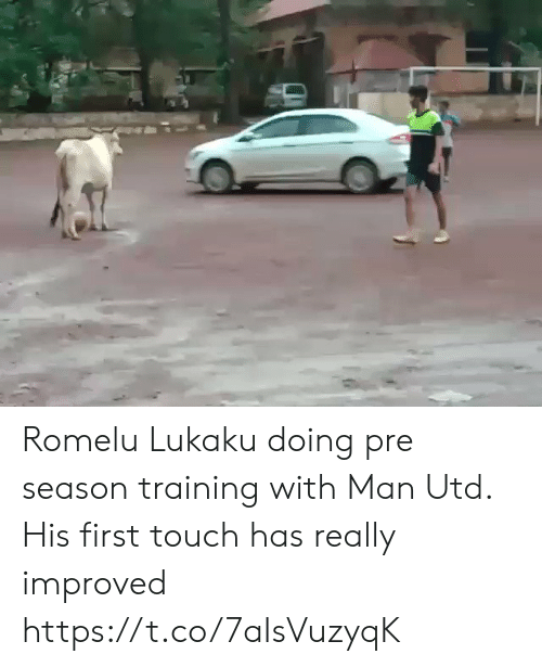 Lukaku: Romelu Lukaku doing pre season training with Man Utd. His first touch has really improved https://t.co/7aIsVuzyqK