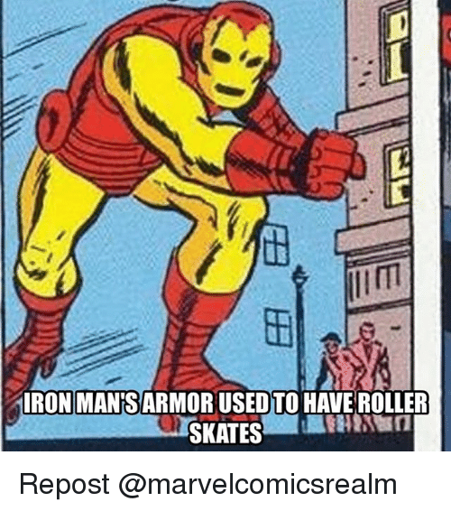 Rollers: RON MANS ARMOR USED TO HAVE ROLLER Repost @marvelcomicsrealm