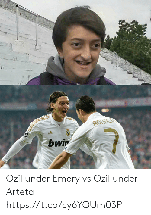 Adidas: RONALD  adidas  Zbwin Ozil under Emery vs Ozil under Arteta https://t.co/cy6YOUm03P