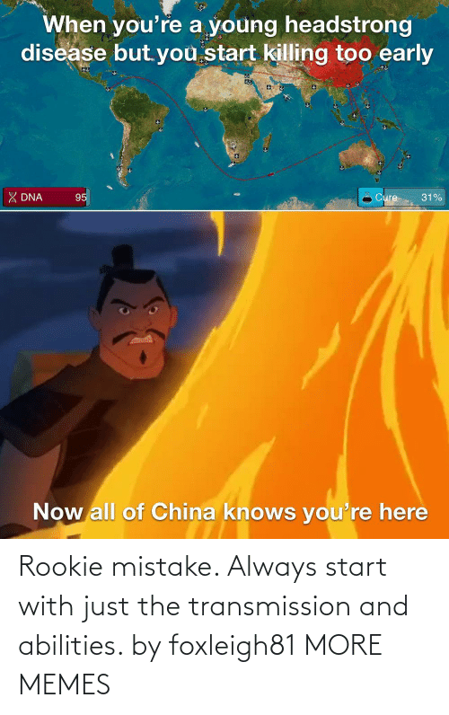Start: Rookie mistake. Always start with just the transmission and abilities. by foxleigh81 MORE MEMES