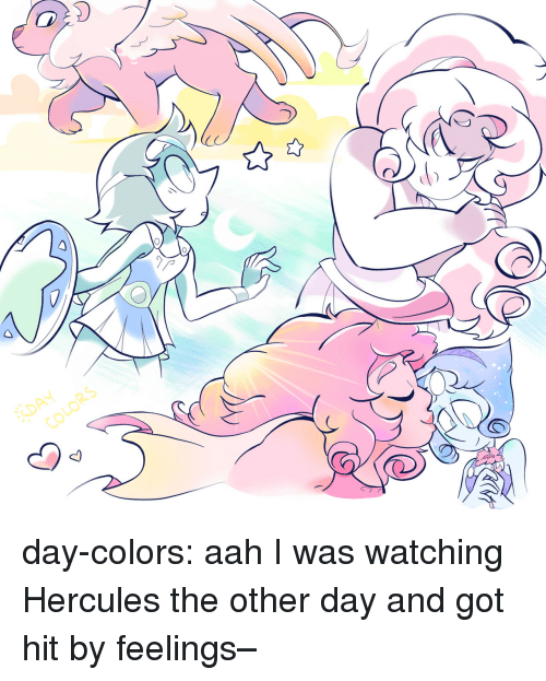 hercules: RS day-colors:  aah I was watching Hercules the other day and got hit by feelings–