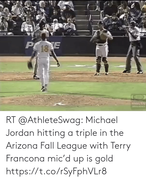 Arizona: RT @AthleteSwag: Michael Jordan hitting a triple in the Arizona Fall League with Terry Francona mic'd up is gold https://t.co/rSyFphVLr8