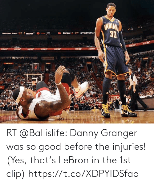 danny: RT @Ballislife: Danny Granger was so good before the injuries!   (Yes, that's LeBron in the 1st clip)  https://t.co/XDPYIDSfao