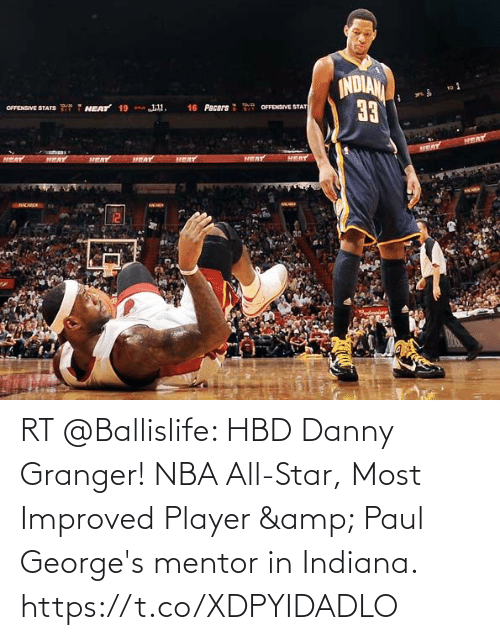 nba all star: RT @Ballislife: HBD Danny Granger! NBA All-Star, Most Improved Player & Paul George's mentor in Indiana. https://t.co/XDPYIDADLO