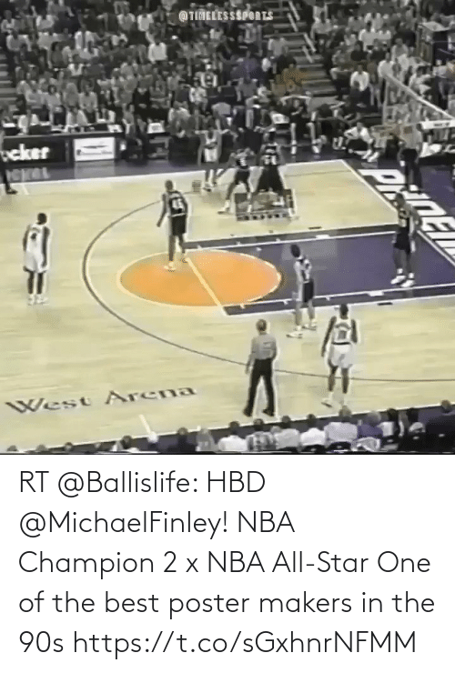 nba all star: RT @Ballislife: HBD @MichaelFinley!   NBA Champion 2 x NBA All-Star One of the best poster makers in the 90s  https://t.co/sGxhnrNFMM
