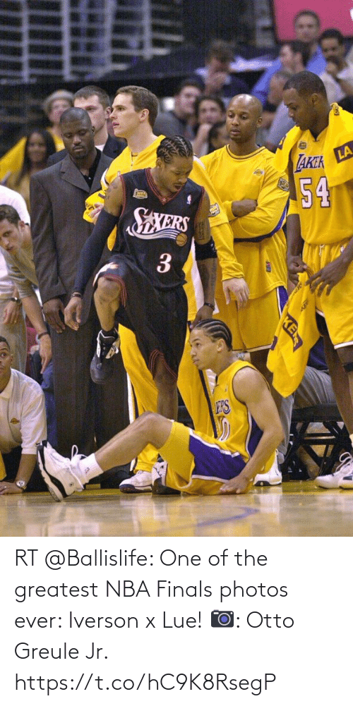 greatest: RT @Ballislife: One of the greatest NBA Finals photos ever: Iverson x Lue!   📷: Otto Greule Jr. https://t.co/hC9K8RsegP