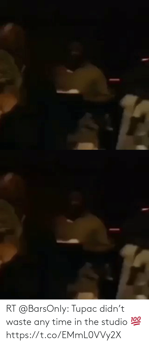 Tupac: RT @BarsOnIy: Tupac didn't waste any time in the studio 💯 https://t.co/EMmL0VVy2X