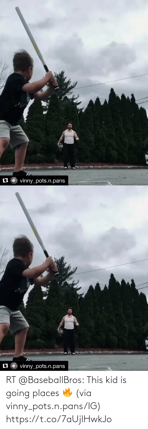 Going Places: RT @BaseballBros: This kid is going places 🔥 (via vinny_pots.n.pans/IG) https://t.co/7aUjlHwkJo