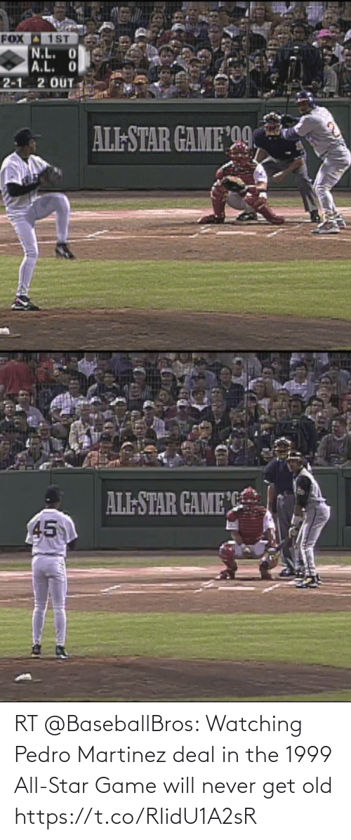 deal: RT @BaseballBros: Watching Pedro Martinez deal in the 1999 All-Star Game will never get old  https://t.co/RIidU1A2sR