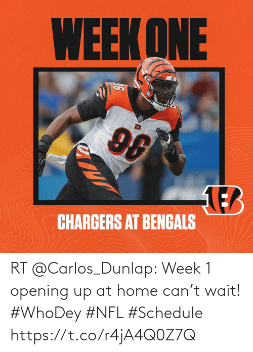 Schedule: RT @Carlos_Dunlap: Week 1 opening up at home can't wait! #WhoDey #NFL #Schedule https://t.co/r4jA4Q0Z7Q