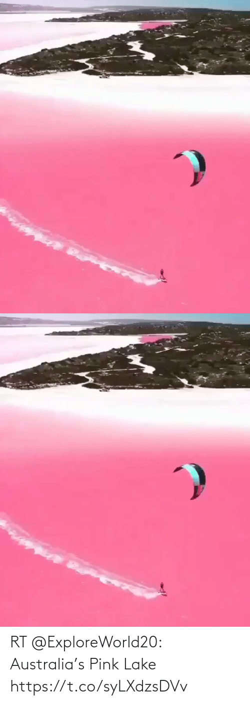 Australia: RT @ExploreWorld20: Australia's Pink Lake https://t.co/syLXdzsDVv