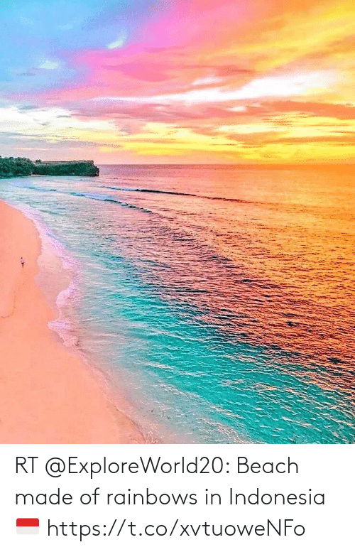 Indonesia: RT @ExploreWorld20: Beach made of rainbows in Indonesia 🇮🇩 https://t.co/xvtuoweNFo
