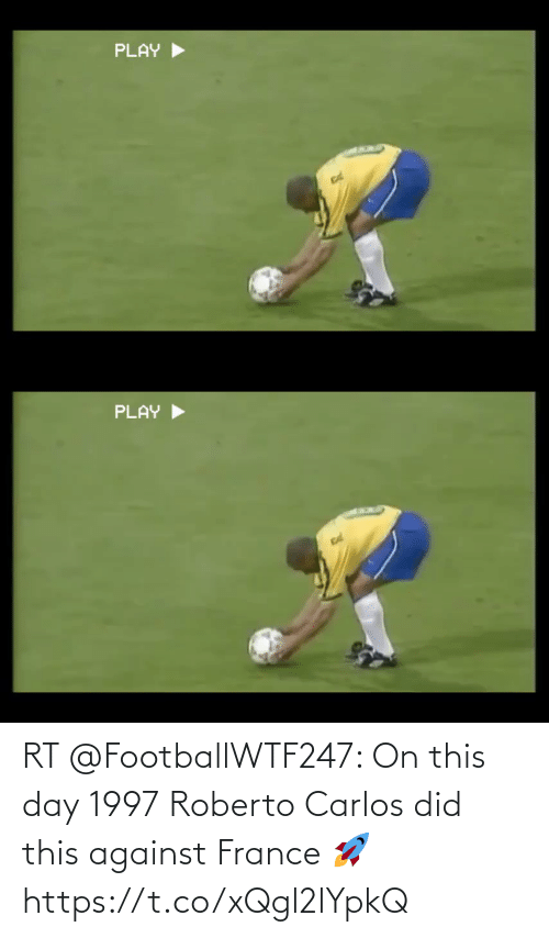 Against: RT @FootballWTF247: On this day 1997 Roberto Carlos did this against France 🚀  https://t.co/xQgl2lYpkQ