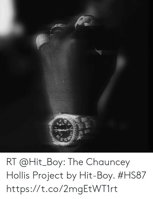 Memes, Boy, and 🤖: RT @Hit_Boy: The Chauncey Hollis Project by Hit-Boy. #HS87 https://t.co/2mgEtWT1rt