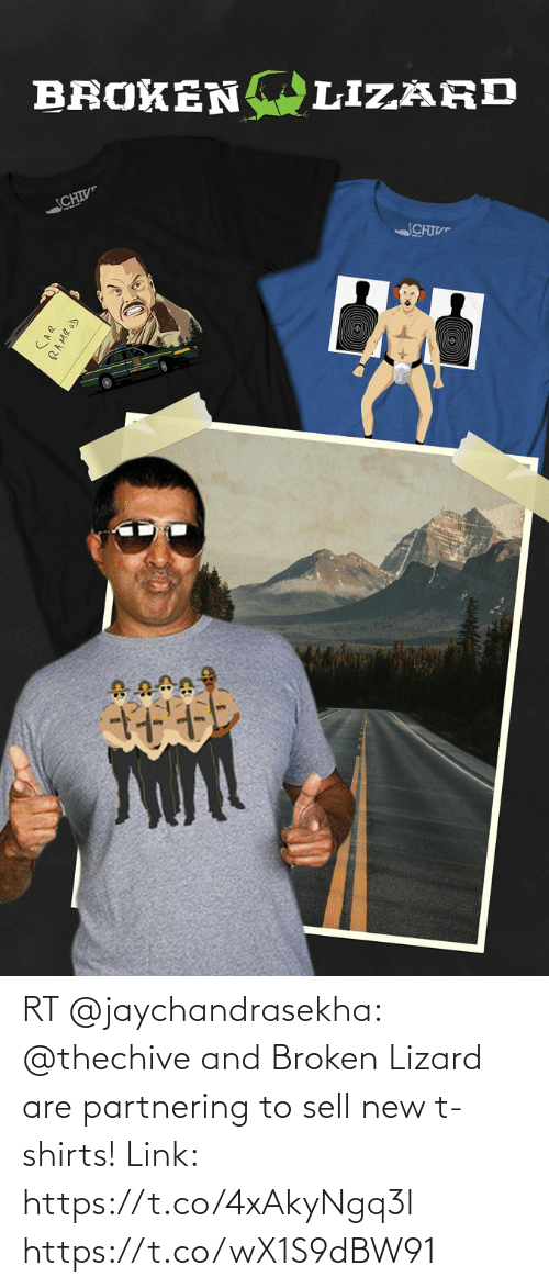 lizard: RT @jaychandrasekha: @thechive and Broken Lizard are partnering to sell new t-shirts! Link: https://t.co/4xAkyNgq3l https://t.co/wX1S9dBW91