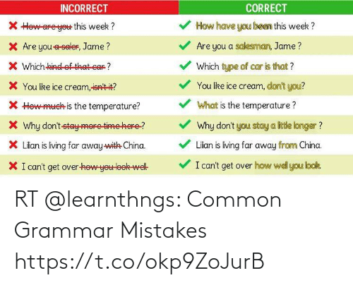 grammar: RT @learnthngs: Common Grammar Mistakes https://t.co/okp9ZoJurB