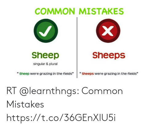 Mistakes: RT @learnthngs: Common Mistakes https://t.co/36GEnXlU5i