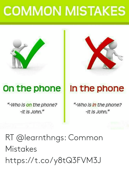 Mistakes: RT @learnthngs: Common Mistakes https://t.co/y8tQ3FVM3J