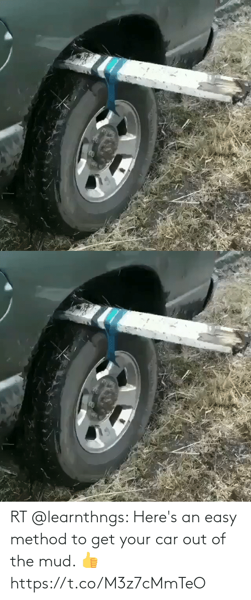 mud: RT @learnthngs: Here's an easy method to get your car out of the mud. 👍 https://t.co/M3z7cMmTeO