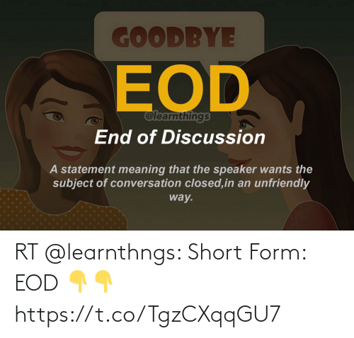 Form: RT @learnthngs: Short Form:  EOD 👇👇 https://t.co/TgzCXqqGU7