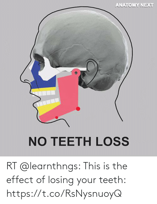 losing: RT @learnthngs: This is the effect of losing your teeth: https://t.co/RsNysnuoyQ