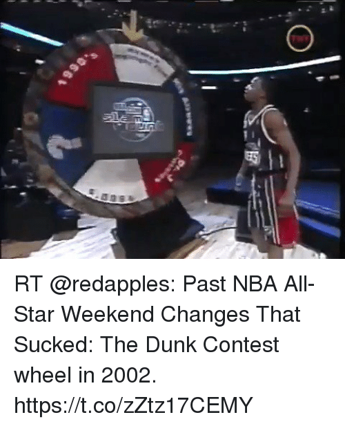 nba all star weekend: RT @redapples: Past NBA All-Star Weekend Changes That Sucked: The Dunk Contest wheel in 2002. https://t.co/zZtz17CEMY