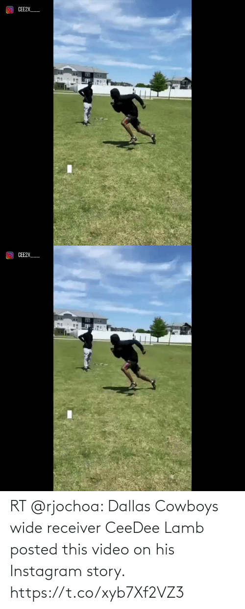 lamb: RT @rjochoa: Dallas Cowboys wide receiver CeeDee Lamb posted this video on his Instagram story. https://t.co/xyb7Xf2VZ3