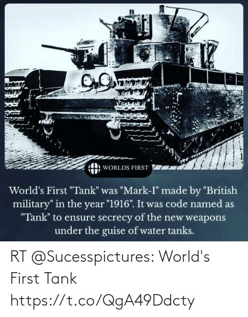 tank: RT @Sucesspictures: World's First Tank https://t.co/QgA49Ddcty