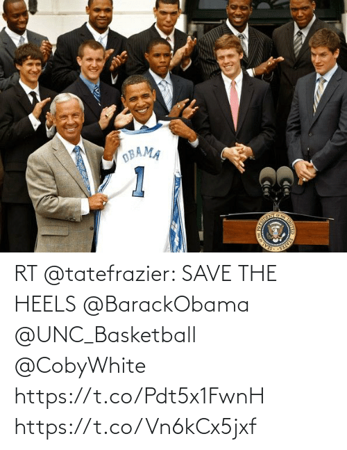 heels: RT @tatefrazier: SAVE THE HEELS @BarackObama @UNC_Basketball @CobyWhite https://t.co/Pdt5x1FwnH https://t.co/Vn6kCx5jxf