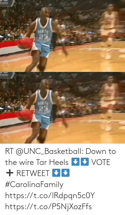 heels: RT @UNC_Basketball: Down to the wire Tar Heels   ⬇️⬇️ VOTE ➕ RETWEET ⬇️⬇️  #CarolinaFamily https://t.co/lRdpqn5c0Y https://t.co/P5NjXozFfs