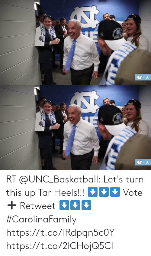 heels: RT @UNC_Basketball: Let's turn this up Tar Heels!!!  ⬇⬇⬇ Vote ➕ Retweet ⬇⬇⬇  #CarolinaFamily https://t.co/lRdpqn5c0Y https://t.co/2lCHojQ5CI