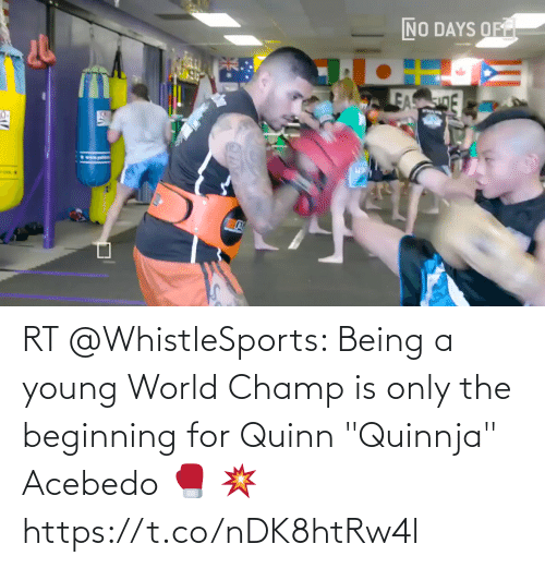 "Young: RT @WhistleSports: Being a young World Champ is only the beginning for Quinn ""Quinnja"" Acebedo 🥊 💥 https://t.co/nDK8htRw4l"