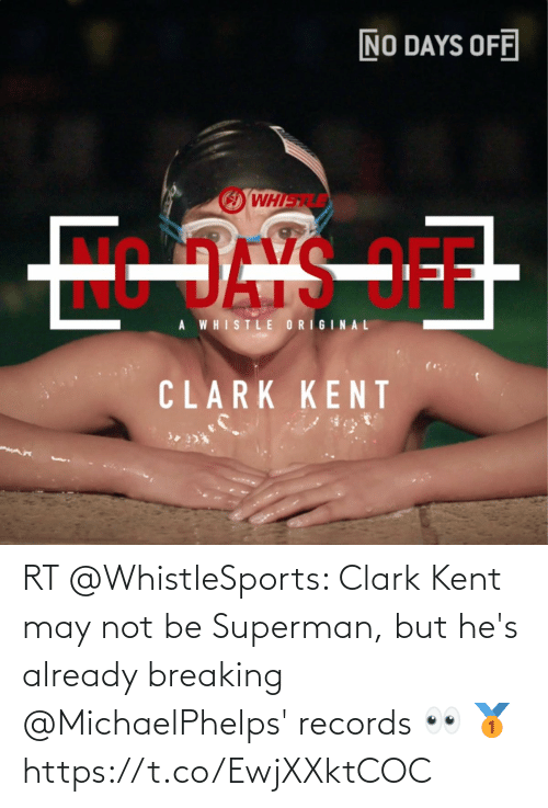 Clark: RT @WhistleSports: Clark Kent may not be Superman, but he's already breaking @MichaelPhelps' records 👀 🥇 https://t.co/EwjXXktCOC