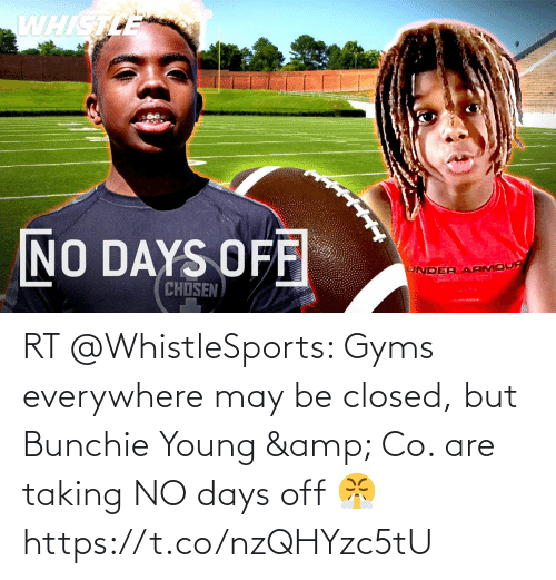 Young: RT @WhistleSports: Gyms everywhere may be closed, but Bunchie Young & Co. are taking NO days off 😤 https://t.co/nzQHYzc5tU