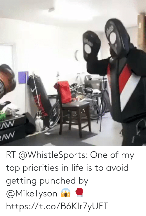 Avoid: RT @WhistleSports: One of my top priorities in life is to avoid getting punched by @MikeTyson 😱 🥊 https://t.co/B6Klr7yUFT