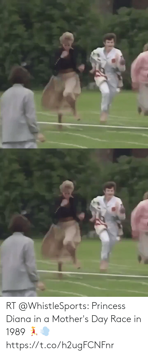 Princess: RT @WhistleSports: Princess Diana in a Mother's Day Race in 1989 🏃‍♀️💨 https://t.co/h2ugFCNFnr