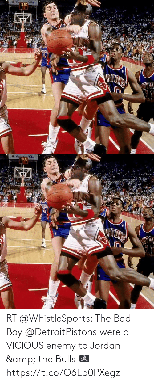 Vicious: RT @WhistleSports: The Bad Boy @DetroitPistons were a VICIOUS enemy to Jordan & the Bulls 🏴‍☠️  https://t.co/O6Eb0PXegz