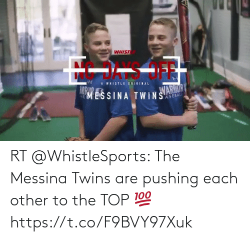 Twins: RT @WhistleSports: The Messina Twins are pushing each other to the TOP 💯 https://t.co/F9BVY97Xuk