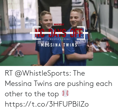 Twins: RT @WhistleSports: The Messina Twins are pushing each other to the top ⚾️ https://t.co/3HFUPBiIZo
