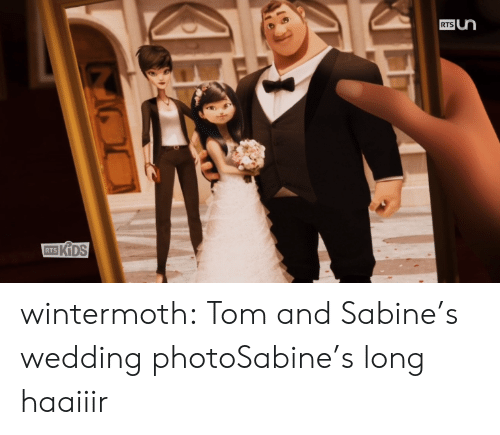 Tom And: RTS  RTS wintermoth:  Tom and Sabine's wedding photoSabine's long haaiiir