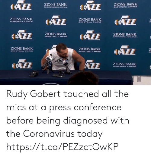 All The: Rudy Gobert touched all the mics at a press conference before being diagnosed with the Coronavirus today https://t.co/PEZzctOwKP