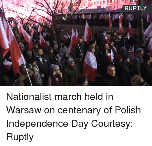 Independence Day: RUPTL Nationalist march held in Warsaw on centenary of Polish Independence Day Courtesy: Ruptly
