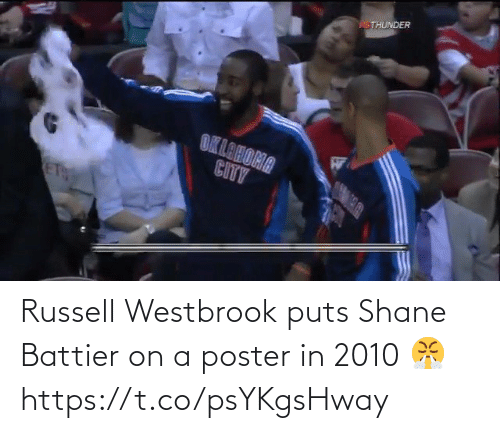 Shane: Russell Westbrook puts Shane Battier on a poster in 2010 😤 https://t.co/psYKgsHway