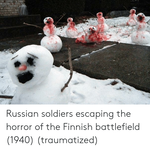 Battlefield: Russian soldiers escaping the horror of the Finnish battlefield (1940) (traumatized)