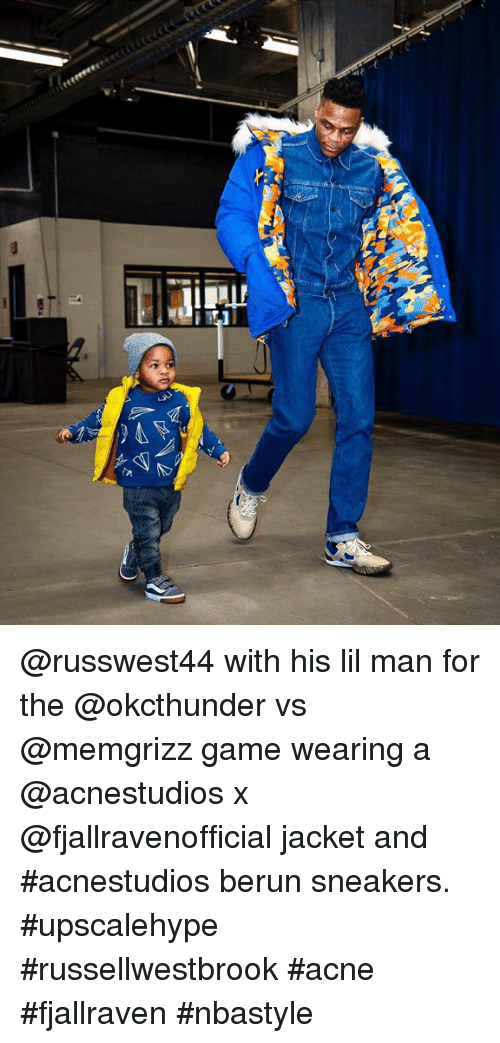 325424b0721 With His Lil Man for the vs Game Wearing a X Jacket and  Acnestudios ...